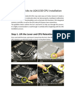 LGA1150 CPU Installation