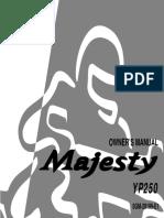 Yamaha Majesty YP250 Owners Manual 2000