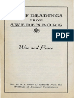 Brief Readings from Swedenborg WAR AND PEACE Swedenborg Foundation 1949
