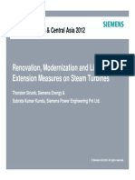 Renovation, Modernization and Life Time Extension Measures on Steam Turbines