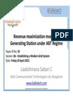 Revenue Maximization Model for Generating Station Under ABT Regime