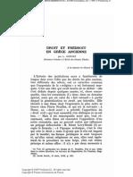 Gernet, Droit Et Prédroit en Grèce Ancienne