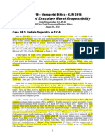 Handout 10 - Managerial Ethics - The Ethics of Executive Responsibility - XLRI 2013
