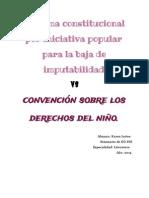 Proyecto de Ley Sobre La Baja de Imputabilidad vs Convencion Sobre Los Derechos Del Niño