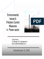 Environmental Issues & Pollution Control Measures in Power Sector