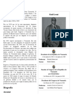 Raúl Leoni - Biografia