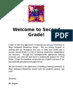 welcometosecondgradehandbook