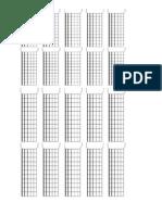 Shapes Em Branco Para Guitarra e Violão