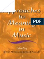Approaches to Meaning in Music - Indiana University Press