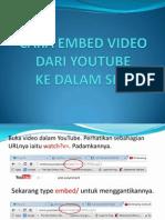 Cara Embed Video Dari Youtube