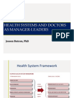 Health Systems and Doctors as Manager-Leaders
