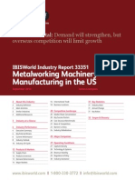 Metalworking Machinery Manufacturing in the US Industry Report