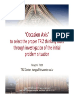 Hongyul Yoon (TRIZ Center) - Occasion Axis to Select Proper TRIZ Tools