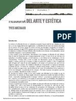 Filosofía Del Arte y Estética Yves Michaud