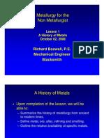 Metallurgy for Non Metallurgist 1