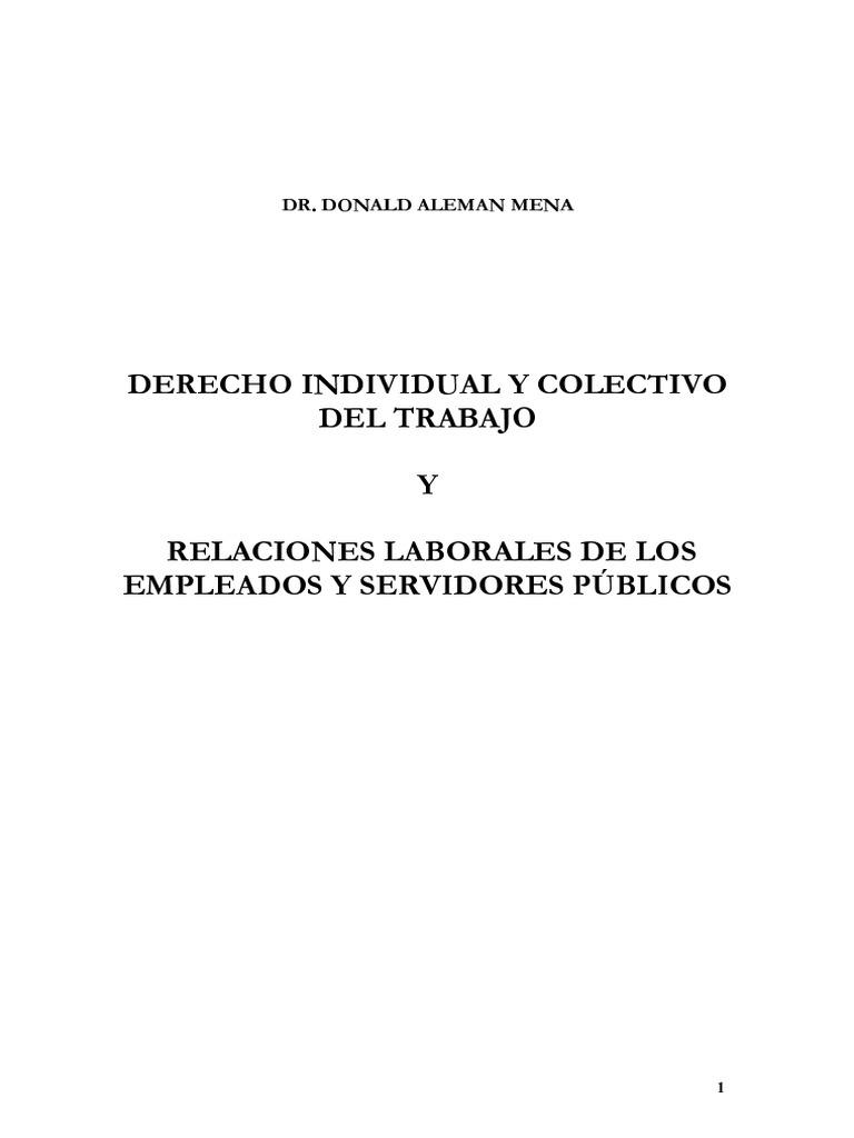 Derecho Individual y Colectivo y Relaciones Laborales de Los ...