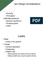 Vacuum System Design Considerations (1)