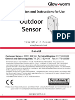 Outdoor Sensor Installation and Instructions for Use