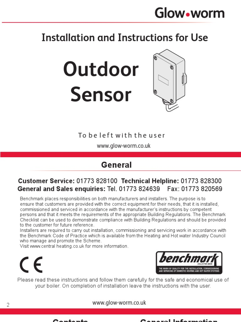 Outdoor Sensor Installation and Instructions for Use | Building ...