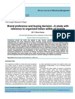 India - Brand Preference in Edible Oils