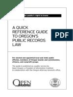 Oregon FOIA Document