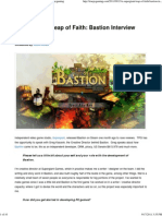 Interview Bastion A Supergiant Leap of Faith