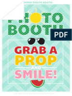 Summer Photo Booth Sign