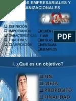 Objetivos Empresariales y Organizacionales