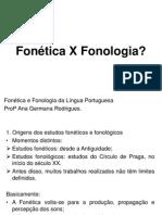Fonética X Fonologia