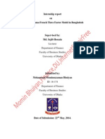 Report on Fama French Three Factor Model