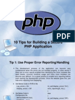 10 Tips for Building a Secure PHP Application