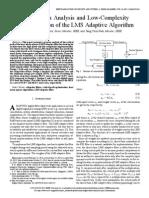 Critical Path analysis using Lms adaptive algorithm
