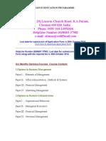 Distance Education Programme