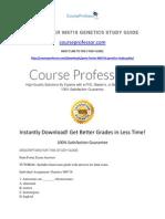 Penn Foster 986718 Genetics Study Guide