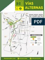Vias Alternas Maratón Ciudad de México 2014