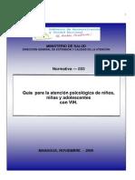 N-033-Atención Psicologica en Niños Con VIH