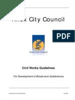 Civil Works Guidelines