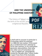 RIZAL AND THE UNDERSIDE OF PHILIPPINE HHISTORY