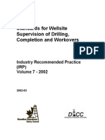 Standards for Well Supervision for Drilling and Completion