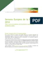 Semana Europea de La Robótica 2014 Difusión educativa