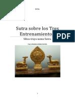 Sutra Sobre Los Tres Entrenamientos.
