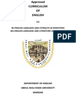 English Main MA and BS Courses