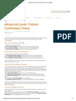 Advanced Level_ Future Continuous Tense _ Learn English