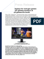 Premium Displays for Next-gen Games 350 AOC Gaming Monitors at EA Gamescom Booth (ENGLISH)