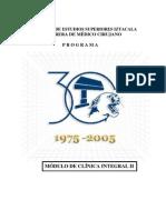 Temario Clinica Integral 2 FES Iztacala UNAM