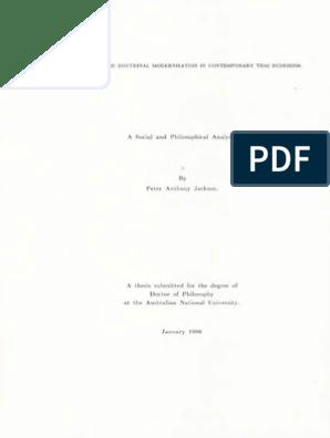 Peter Anthony Jackson Buddhadasa and Doctrinal