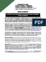 INSPIRE Fellowship Advertisement 2009