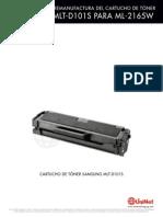 Instrucciones Samsung ML 2165 MLT D101 Reman SPAN