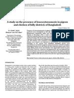 Presence of Leukocytozoonosis in Bangladesh