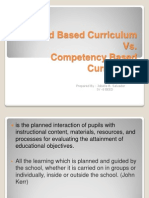 Standard Based Curriculum Vs competency based curriculum